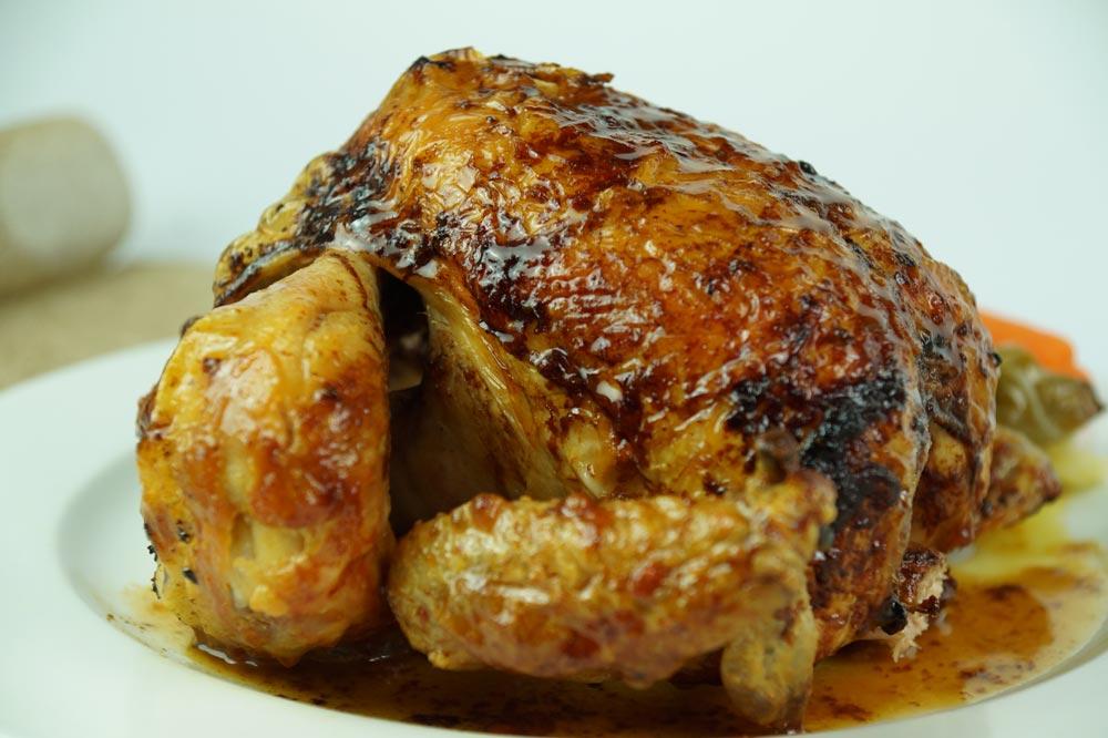 ¿Cuál es el proceso de asado de los pollos asados en Albacete?